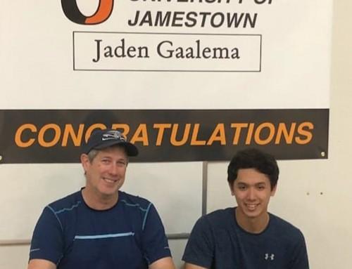 Jaden Gaalema signs with University of Jamestown