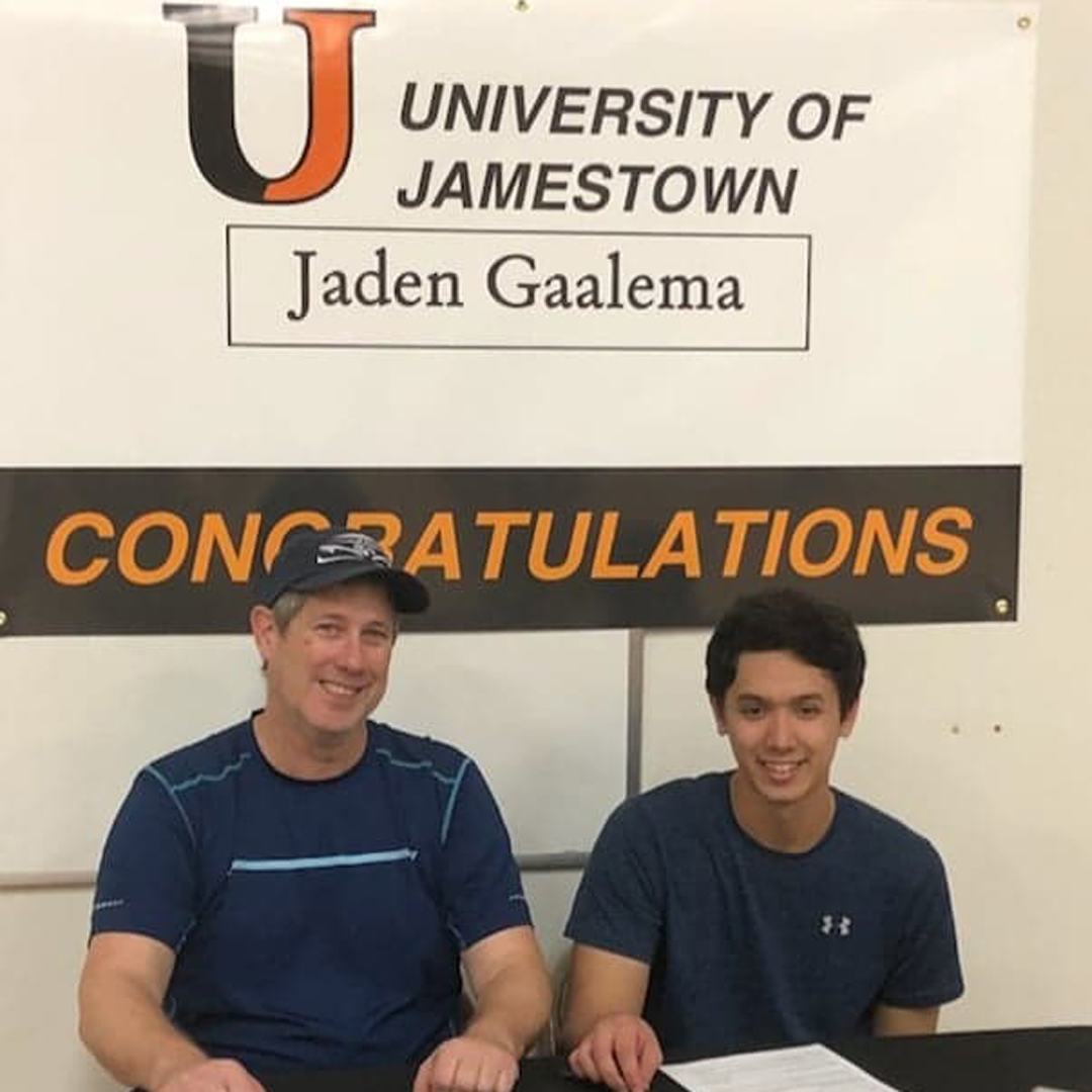 Jaden Gaalema signs with University of Jamestown